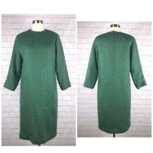 Vintage Mohair Angora Cocoon Shift Dress AA1532